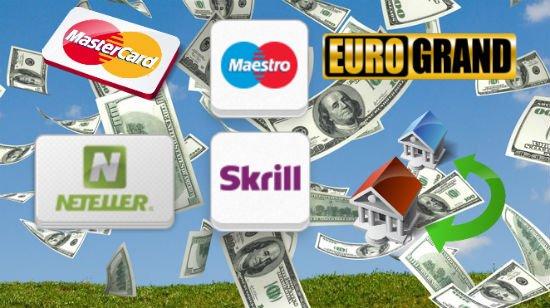 Valitse talletustapa ja saat 15% bonuksen Eurogrand casinolla