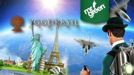 Mr Green casinolle lisätään pian Yggdrasilin koko pelivalikoima