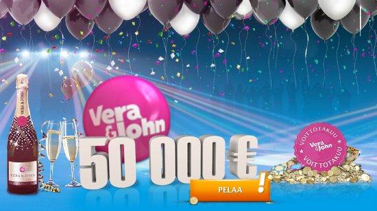 Vera&John casinon voittotakuu kampanja lupaa jopa 50 000€