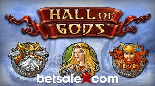 Saat 250 € Betsafelta, jossa Hall of Gods -jättipotit odottavat