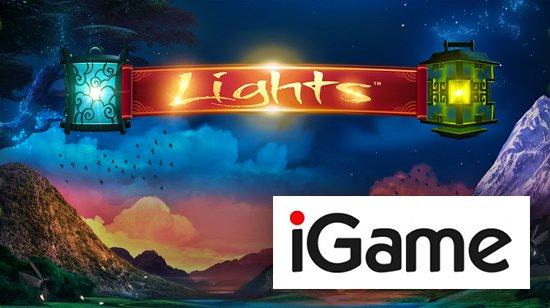 iGamelta jopa 300 ilmaispyöräytystä Lights – videoslotille ja 10 euroa joka päivä!