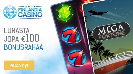 Lunasta 5€ tilin avaamisesta sekä 100€ bonus Finlandia Casinossa!