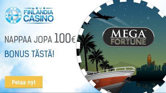 Finlandia Casino – nappaa 100% tervetuliaisbonus jopa 100€ asti