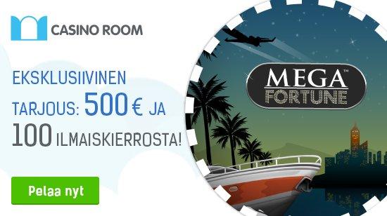 Casino Room ja Casinolehti: nappaa 500€ ja 100 ilmaiskierrosta
