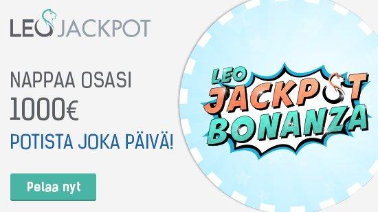 Voita oma osasi 1000 euron päivittäisestä potista LeoJackpotilla