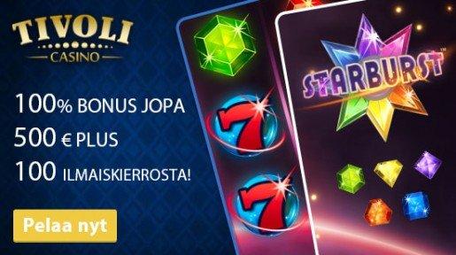 Tivoli Casino – nappaa isot bonukset ja suuret voitot