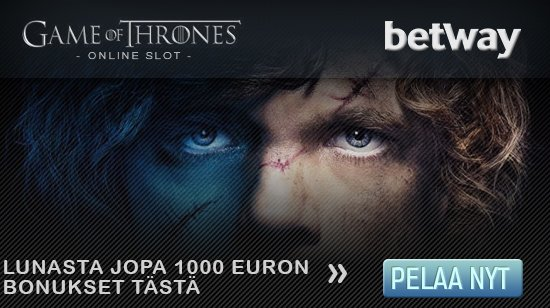 Game of Thrones –videoslotti on pian Betway casinolla