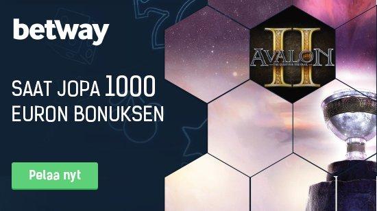 Betway tarjoaa jopa 1000 euron tervetuliaisbonusta!