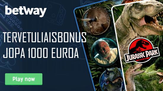 Tuplaa ensitalletuksesi 500 euroon asti Betwayllä