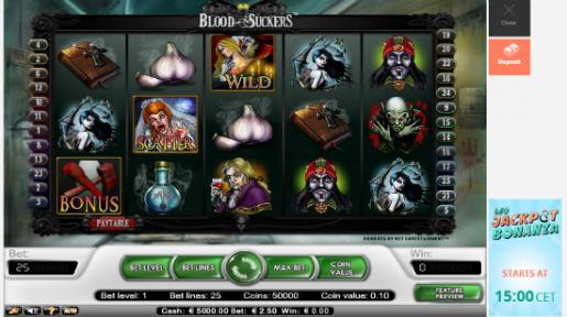 Bloodsuckers nyt pelattavissa LeoJackpotilla!