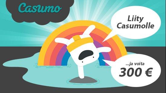 Rekisteröidy Casumolle ja voit saada jopa 300 euroa