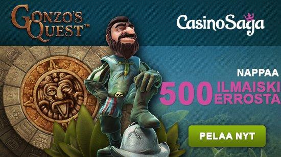 Casino Sagan saarelta saat 500 ilmaiskierrosta!