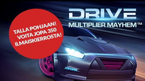 Vauhtiviikko Gutsilla – nappaa Drive ilmaiskierroksia NetEntin-peliin ja voita Ferrari käyttöösi!