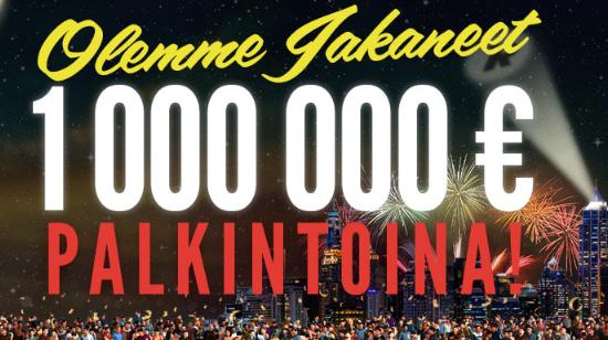 Rizk-casino on jakanut pelaajilleen miljoona euroa palkintoina