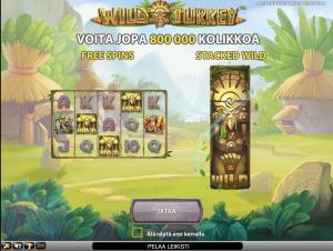 Wild Turkey -kolikkopeli ComeOn Casinolla